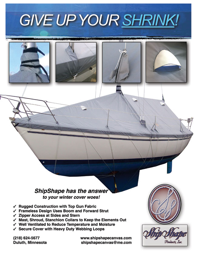 Frameless Winter Sailboat Cover